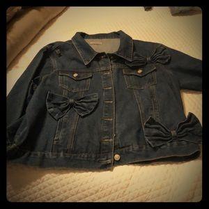 Alice&You dark wash feminine denim jacket size 18w